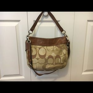 Coach Signature Scarf Hobo